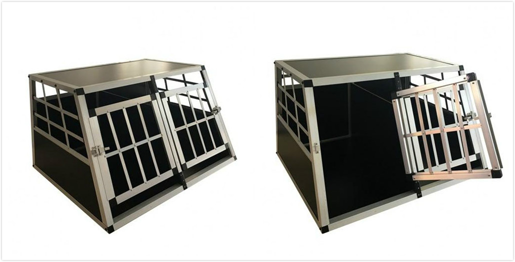 PME dog kennel aluminium cage double door