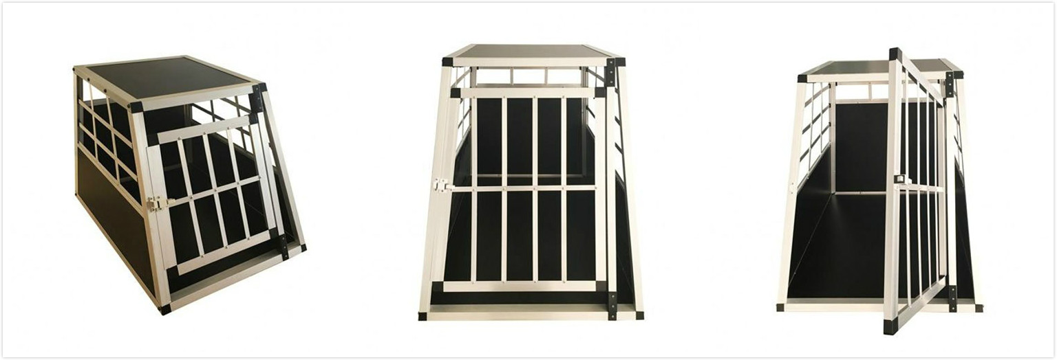 PME dog kennel aluminium cage single door